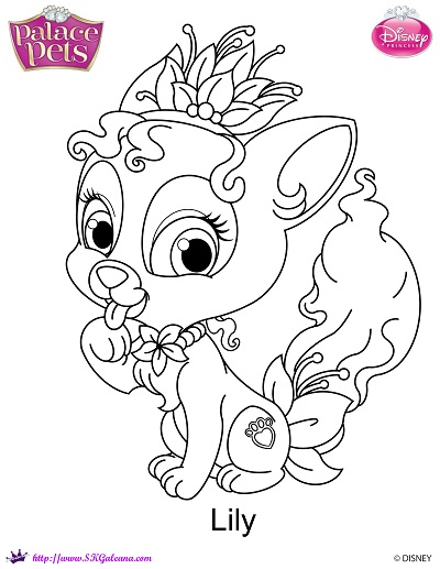 palace pets coloring pages - disney princess palace pets lily coloring page by