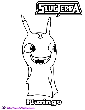 Flaringo coloring Page by SKGaleana by SKGaleana on DeviantArt