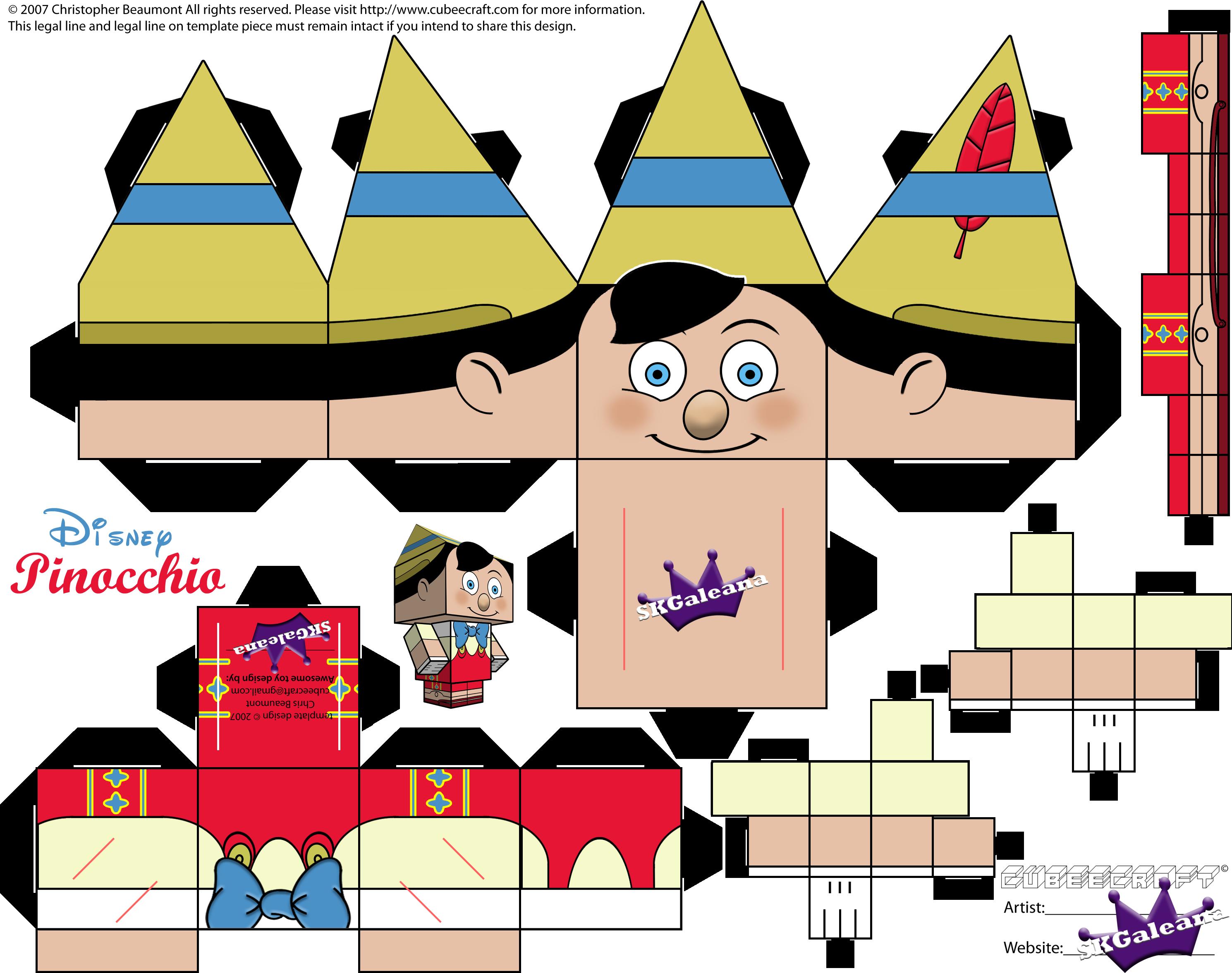 pinocchio hat template - figura de papel de pinocho manualidades de papel