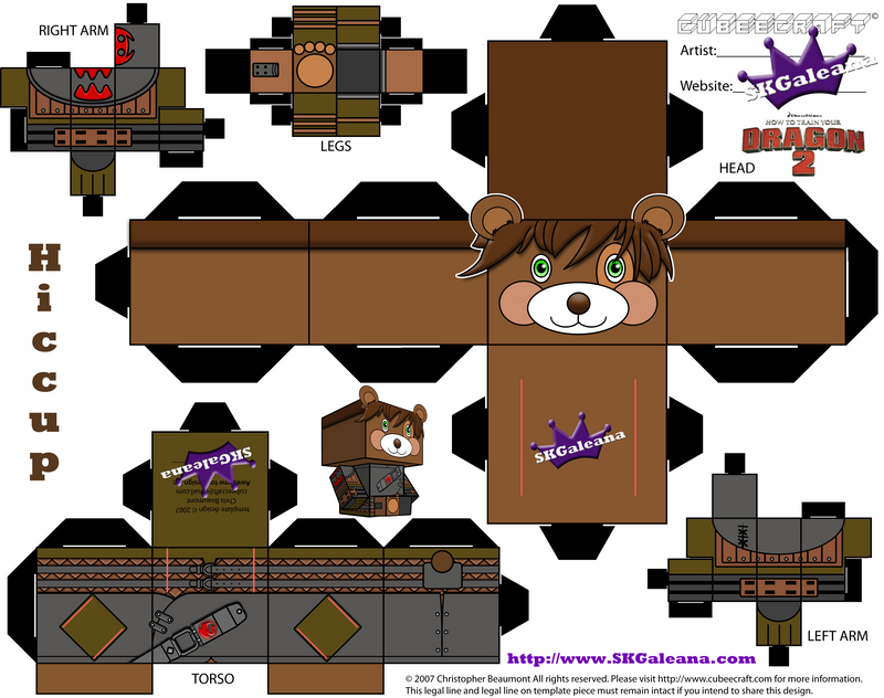 How to train your dragon 2 teddy hiccup cubeecraft by skgaleana on how to train your dragon 2 teddy hiccup cubeecraft by skgaleana ccuart Images