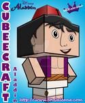 Disney Aladdin cubeecraft 3D by SKGaleana