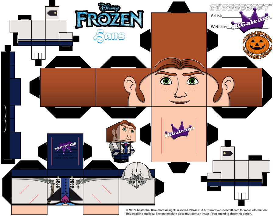 Disney Frozen Hans Cubeecraft By SKGaleana