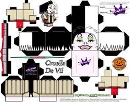 Disney cruella de vil cubeecraft by SKGaleana by SKGaleana