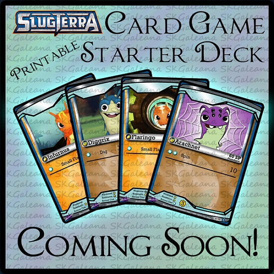 Sneak Peek Slugterra Printable Card Game by SKGaleana