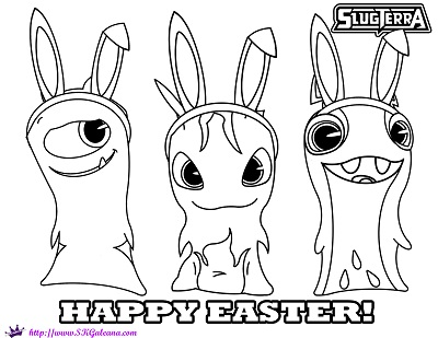 Happy Easter Slugterra Coloring Page by SKGaleana by SKGaleana on