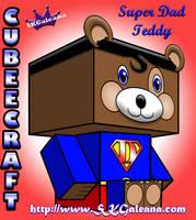 Teddy Bear Super Dad 3D by SKGaleana by SKGaleana