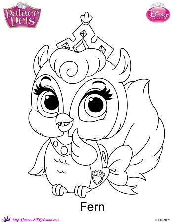 Princess Palace Pet Fern coloring Page by SKGaleana on