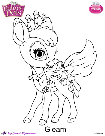 Princess Palace Pet Gleam Coloring Page By SKGaleana