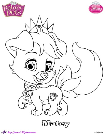 Princess palace pet matey coloring page by skgaleana on for Princess pets coloring pages