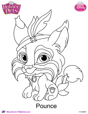 Princess palace pet pounce coloring page by skgaleana on for Princess pets coloring pages