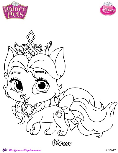 Princess Palace Pet Rouge Coloring Page By Skgaleana On Princess Pets Coloring Pages
