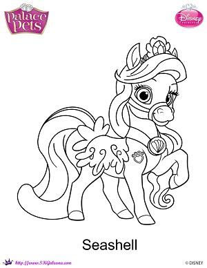 Princess Palace Pet Seashell Coloring Page By SKGaleana