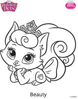 Princess Palace Pets Beauty Coloring Page by SKGaleana