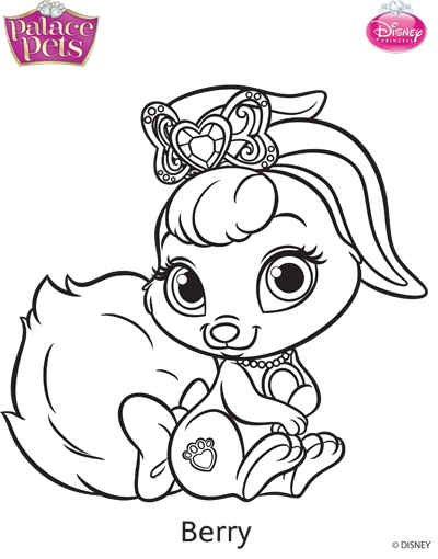 Princess Palace Pets Berry Coloring Page By SKGaleana