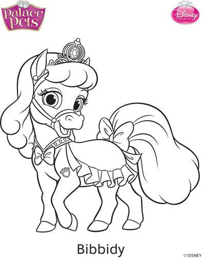 Princess Palace Pets Bibbidy Coloring Page by SKGaleana on