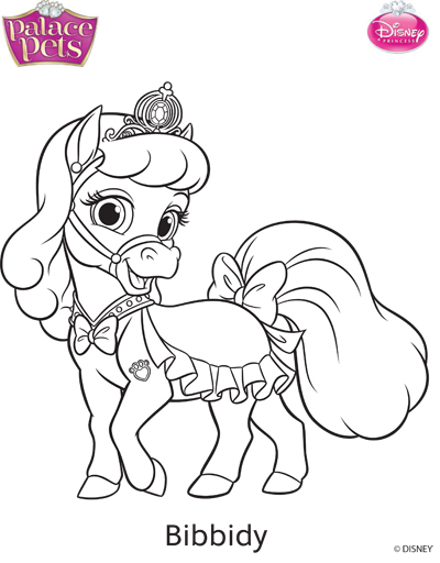 Princess Palace Pets Bibbidy Coloring Page by SKGaleana on