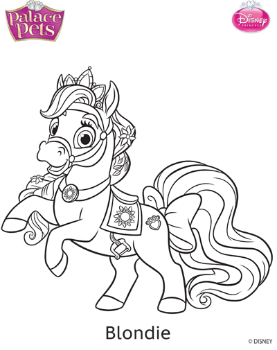 Princess Palace Pets Blondie Coloring Page By SKGaleana
