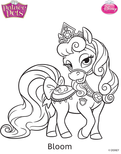 Princess Palace Pets Bloom Coloring Page By SKGaleana