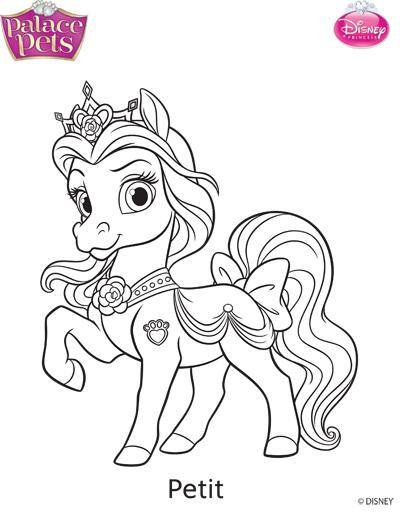 Princess palace pets petit coloring page by skgaleana on for Princess pets coloring pages