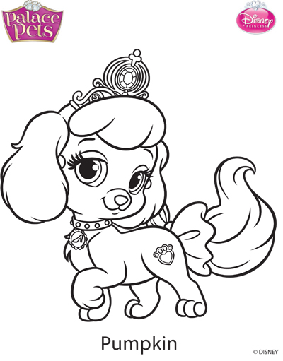 Princess Palace Pets Pumpkin Coloring Page By SKGaleana