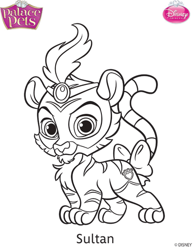 Princess Palace Pets Sultan Coloring Page By SKGaleana