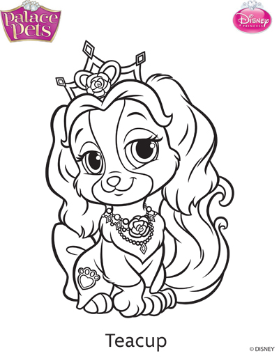 Princess Palace Pets Teacup Coloring Page by SKGaleana on