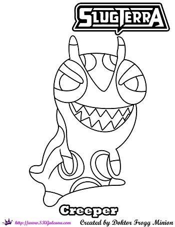 SlugTerra Coloring Pages on ColoringPagesRUs DeviantArt