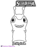 Jellyish coloring Page Slugterra by SKGaleana