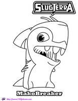 MakoBreaker coloring page Slugterra by SKGaleana