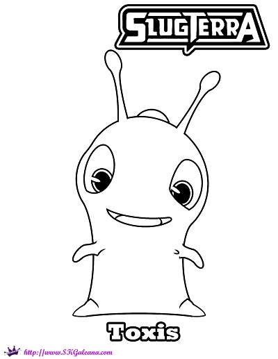 Slugterra vinedrill free colouring pages for Slugterra coloring pages burpy