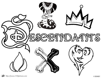 Coloring Pages Disney Descendants