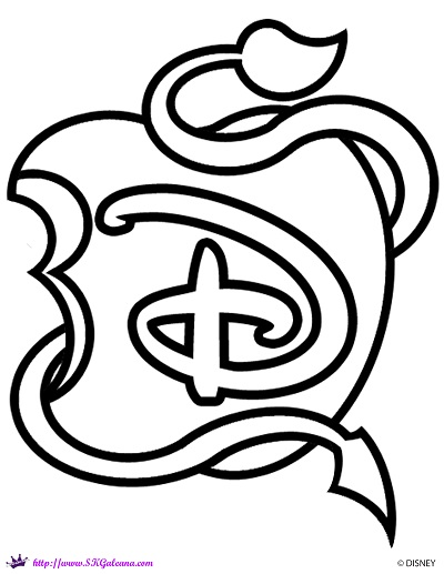 Disney Logo Coloring Pages : Descendants logo coloring page skgaleana by on