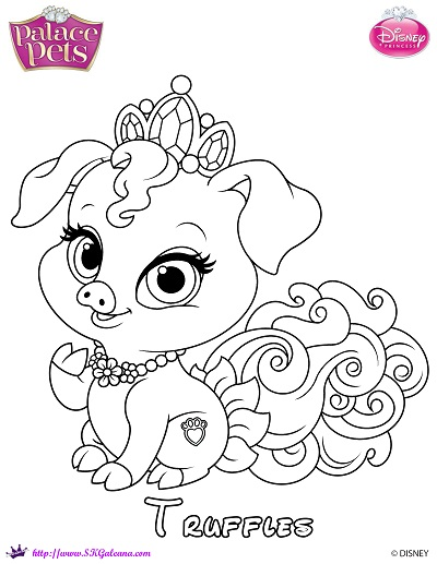 Truffles princess palace pet coloring page by skgaleana on for Princess pets coloring pages