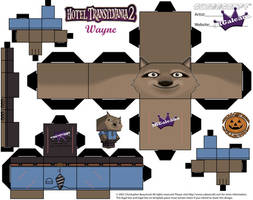 Hotel Transylvania 2 Wayne Cubeecraft Template by SKGaleana
