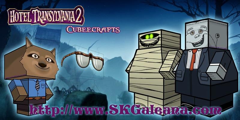 Hotel Transylvania 2 Monster Cubeecraft by SKGaleana