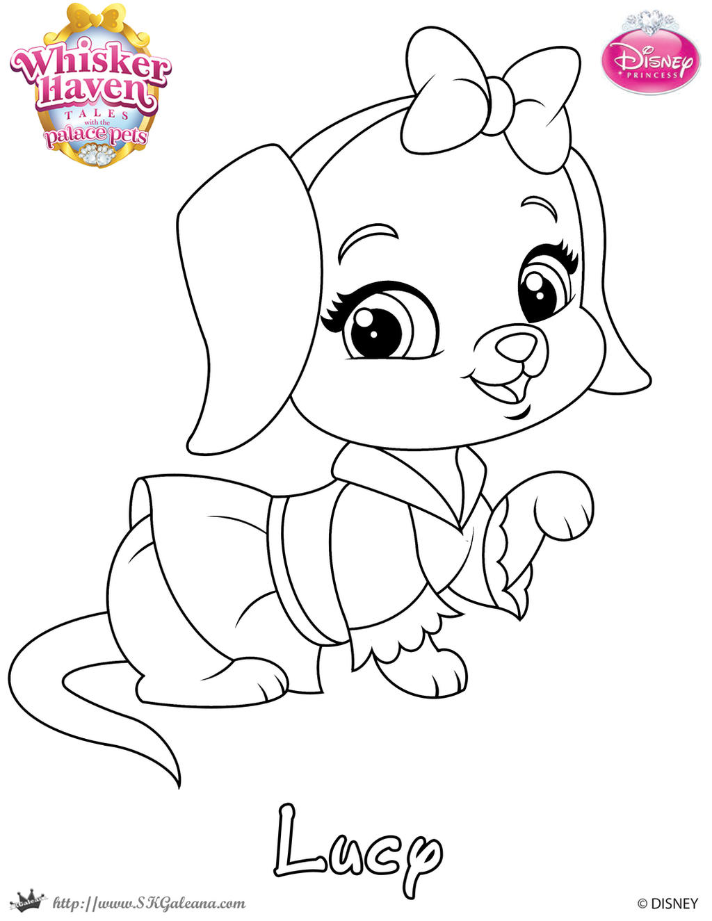 Disney princess palace pets coloring pages - Skgaleana 2 0 Lucy Coloing Page From Whisker Haven By Skgaleana