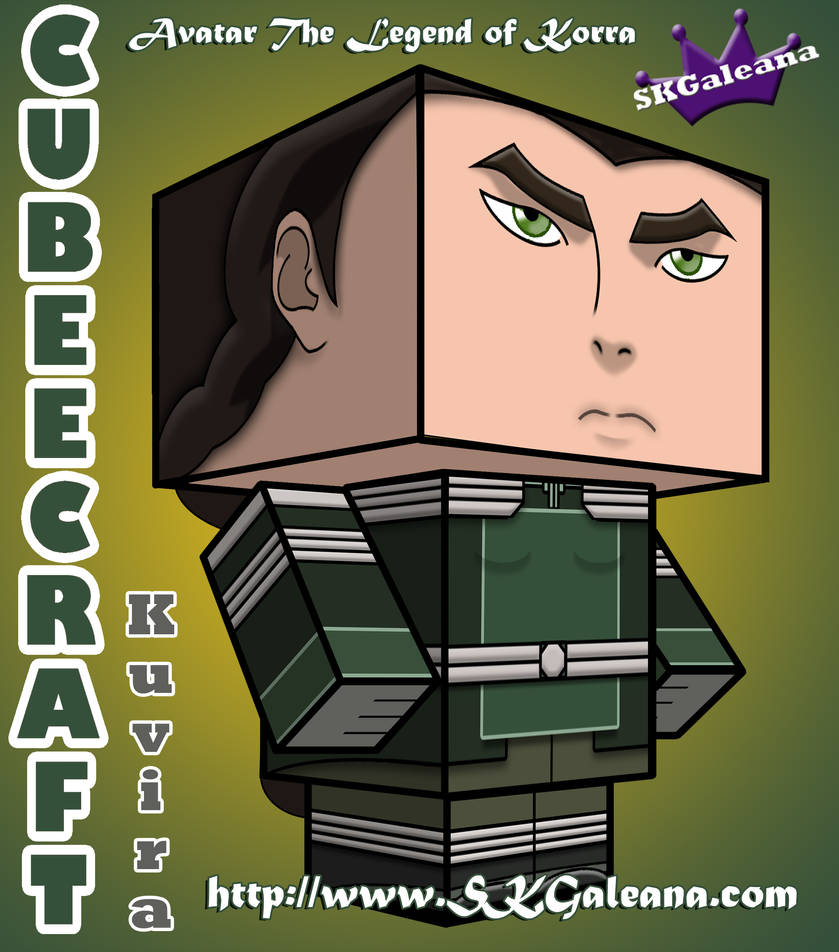 Kuvira Cubeecraft from Legend of Korra by SKGaleana