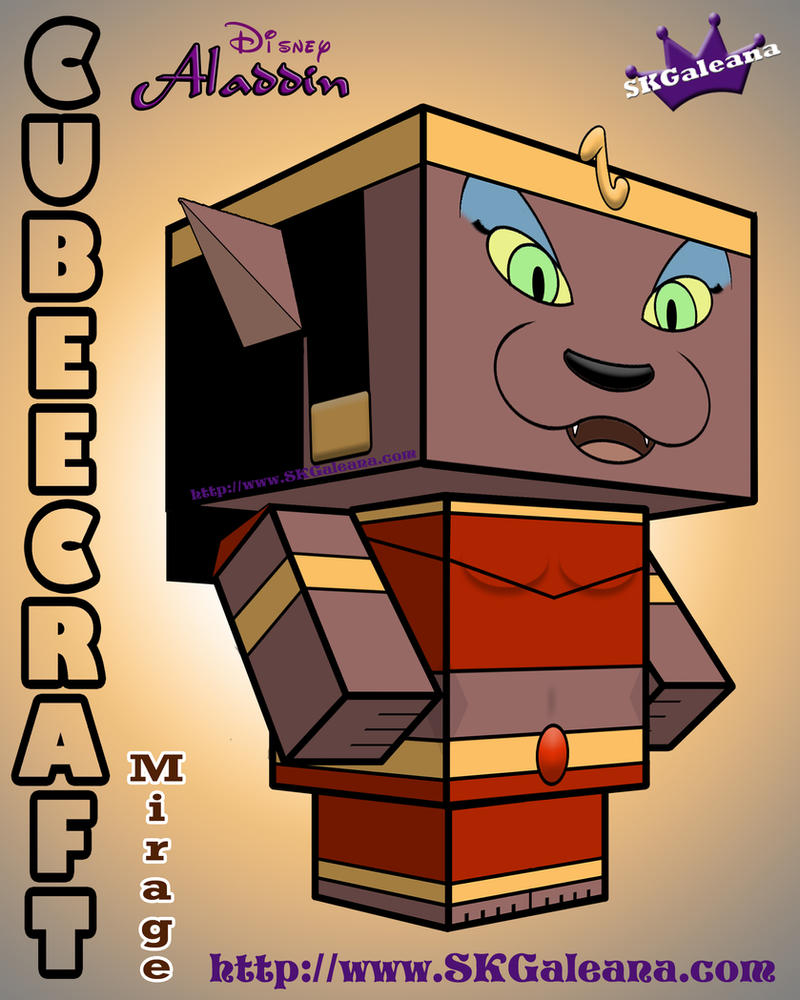 Mirage 3D Cubeecraft from Aladdin by SKGaleana by SKGaleana