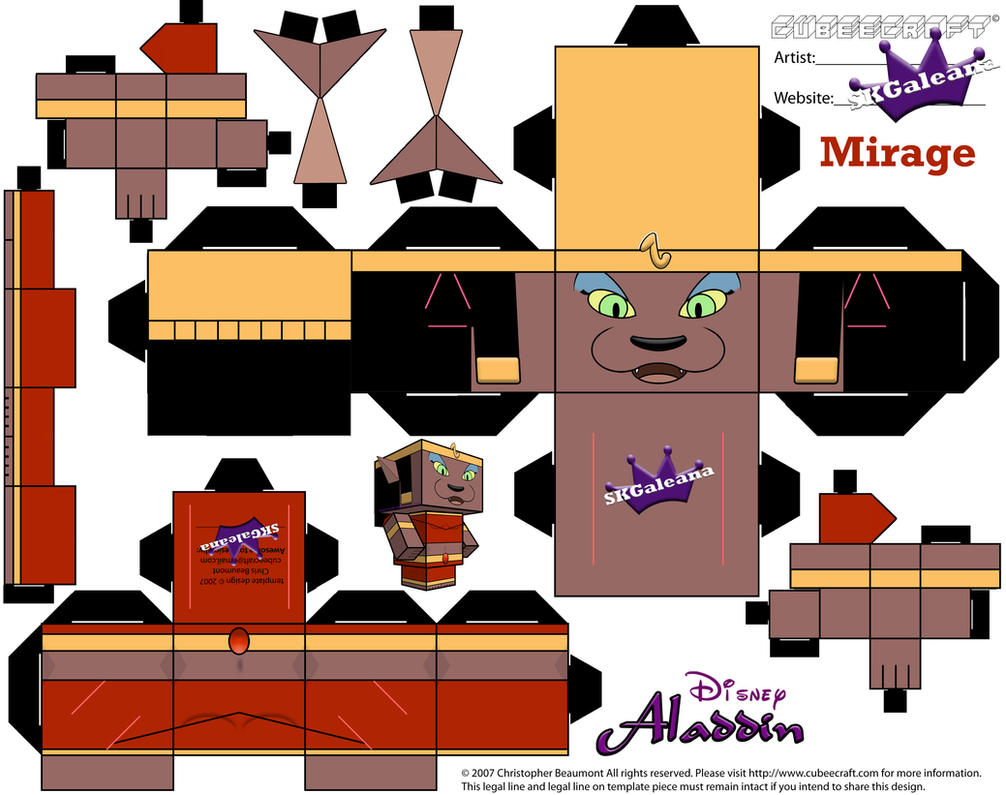 Mirage Cubeecraft template from Aladdin by SKG by SKGaleana