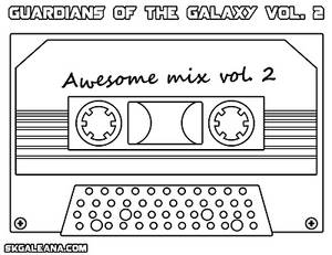 Coloring Page from Guardians of the Galaxy vol2