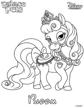 Bloom Princess Palace Pet Coloring Page SKGaleana