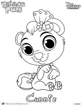 Coloring Page of Cubbie from Princess Palace Pets