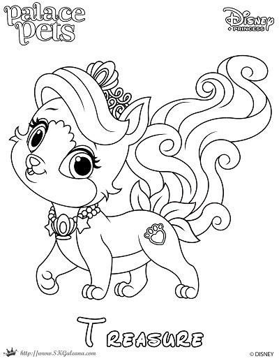 Coloring Page Of Treasure From Palace Pets By SKGaleana
