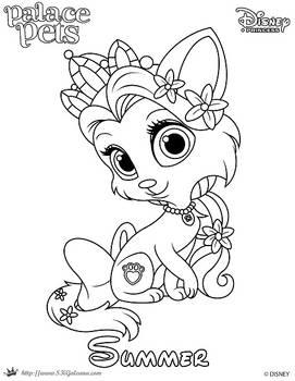 Summer Princess Palace Pet Coloring Page SKGaleana