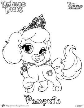 Pumpkin Princess Palace Pet Coloring Page