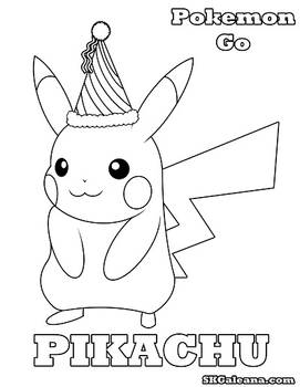 Pikachu coloring page by SKGaleana