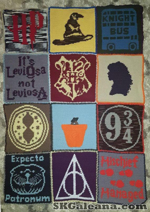 Harry Potter Crochet Blanket Pattern by SKGaleana