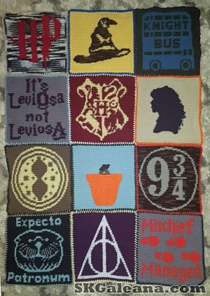 Harry Potter Crochet Blanket Pattern by SKGaleana by SKGaleana