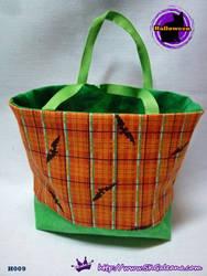 Handmade Tiny Tote bag Featuring Black Bats by SKGaleana