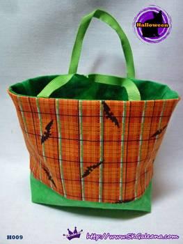 Handmade Tiny Tote bag Featuring Black Bats